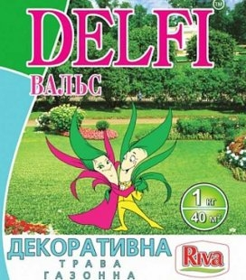Трава газонная DELFI 'Вальс', декоративная, 1кг