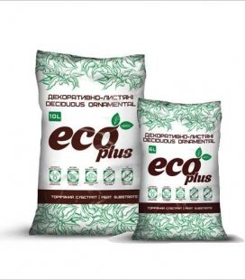Субстрат торфяний 'Декоративно-листяні рослини' 'ECO PLUS', 6л